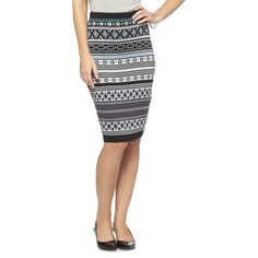 Printed Sweater Skirt