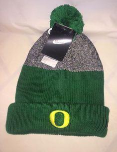 0dacc9ac1ae NIKE Mens COLLEGE OREGON APPLE GREEN GRAY Cuffed Pom Beanie Hat NWT   fashion  clothing  shoes  accessories  mensaccessories  hats (ebay link)