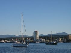 Nanaimo Harbour - view from Dinghy Dock Pub Dinghy, Vancouver Island, San Francisco Skyline, New York Skyline, Things To Do, Places, Travel, Jon Boat, Things To Make