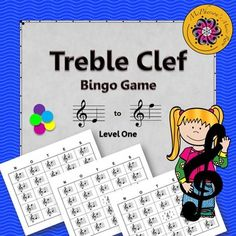 """Looking for a fun way to review reading notes directly on the treble clef staff with your elementary music students?  Students will love this fast paced game where there are lots of """"winners""""!"""