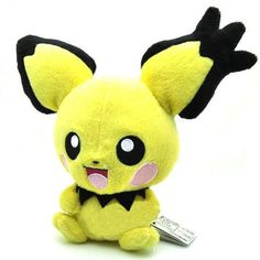 "New 7"" /18cm PICHU Rare Pokemon Plush Soft Toy Doll Kids Gift Free Shipping"
