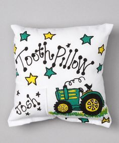 Lay out the welcome mat: The tooth fairy is on its way! This soft pillow features a pocket for holding lost teeth, and come morning, it just might contain a treasure. Best of all, this sweet piece can be personalized with a little one's name to prevent any midnight mix-ups.