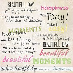 Main Page, Joy And Happiness, Beautiful Day, Digital Scrapbooking, In This Moment, Journal, Let It Be, Happy, Shop