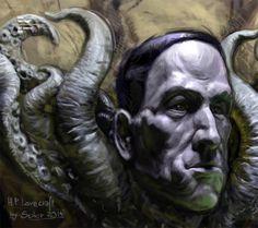 ArtStation - Howard Phillips Lovecraft, Scibor Teleszynski