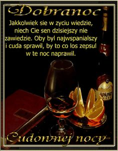 Gify , obrazki i wierszyki na kazdą okazje: Gify na dobranoc Good Night All, Wine Decanter, Red Wine, Alcoholic Drinks, Glass, Humor, Places, Good Night, Good Morning