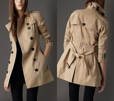 A Burberry-Inspired School Coat Trench Coat Outfit, Burberry Trench Coat, Long Trench Coat, Camel Coat, Mode Outfits, Winter Outfits, Trent Coat, Coats For Women, Jackets For Women
