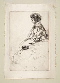 James Whistler 1859 gravura em metal