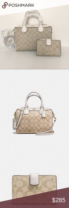 💓Brand New💓 Coach set - satchel & wallet Brand new coach satchel with matching medium wallet. Classy and versatile. Goes with everything. Coach Bags Satchels