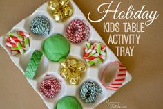 Mommy Testers: Holiday Party Kids Table Activity Tray