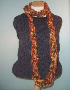 Autumn Colored Chunky Infinity Scarf Knit Infinity by JandSKnitts, $36.00