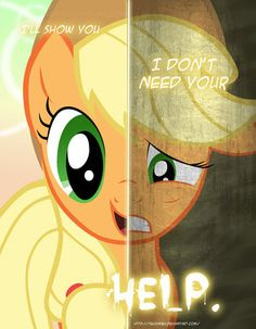 MLP - Two Sides of Applejack by *TehJadeh on deviantART