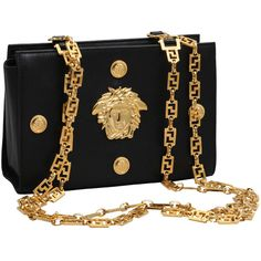 """VINTAGE GIANNI VERSACE COUTURE MEDUSA BAG """"THE WOLF OF WALL STREET""""... ❤ liked on Polyvore featuring home, home decor, versace home decor, vintage home accessories, vintage home decor and versace"""