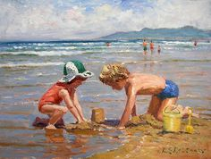 """Fun at the Beach"" by Roelof Rossouw"