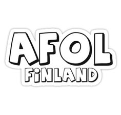 """AFOL Finland by Customize My Minifig"" Stickers by ChilleeW 
