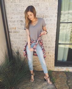 """Sadie Robertson on Instagram: """"I love sailing into spring in my new @wildbluedenim spring collection at rue 21. it's so much fun mixing these items, because they literally go with everything! today calls for a little tie and knot action!  4.4.16"""""""