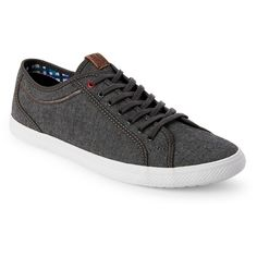 Ben Sherman Grey Connall Low Top Sneakers ($50) ❤ liked on Polyvore featuring men's fashion, men's shoes, men's sneakers, grey, mens low profile sneakers, mens grey shoes, mens gray shoes, mens lace up shoes and mens low profile shoes