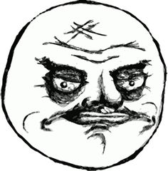 No Me Gusta! face meme on All The Rage Faces! Rage Faces, Troll Face, Faith In Humanity Restored, Cartoon Memes, Artwork, Funny Stuff, Gifs, Mood, Humor