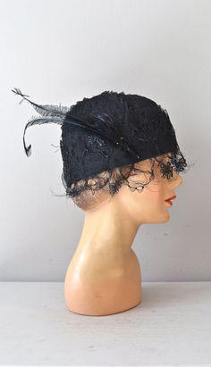 vintage 1920s hat / 20s cloche hat / The Grace Hat