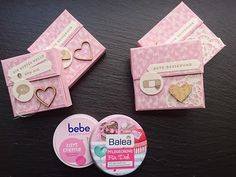 Verpackung für Creme BEBE und BALEA Stampin Up Anleitung, Punch Board, Stamping Up, Little Gifts, Pop Up, Envelope, Goodies, Scrap, Boxes
