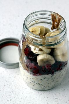 Overnight Oats in a Jar- this with chia seeds has been my go to for breakfasts lately.