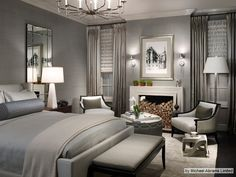 Bedroom <3 - Silver, Greys and Slate Blue