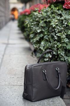 Prada Saffiano Leather Briefcase by filippo fiora via www.thethreef.com