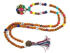 Rudraksha Mala Beads Nine Planets Navgraha (Navartna) Prayer Meditation Rosary Necklace, Gift Idea Mogul Interior http://www.amazon.com/dp/B00RWUE1B0/ref=cm_sw_r_pi_dp_ZIpRub0WHDJH2