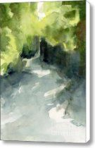 Sunlight and Foliage Conservatory Garden Central Park Watercolor Painting Canvas Print / Canvas A...