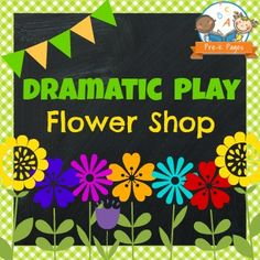 Printable props to help you easily transform your dramatic play center into a Flower Shop.  Includes literacy, math, and writing opportunities that support current learning standards.This packet also provides research that explains how dramatic play supports academic learning. *PLEASE READ THE PRODUCT DESCRIPTION THOROUGHLY*The 37 page Dramatic Play Flower Shop Kit includes the following:Open and Closed Signs {large and small}Four different Flower Shop signs {Preschool, Pre-K, Kinder, and…