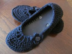 crocheted flats - with flip flop sole