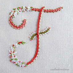 295 Best Embroidery - Alphabet images in 2013 | Hand lettering