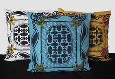 Screenprinted textiles and illustration Bow Pattern, Screen Printing, Cushions, Textiles, Bows, Throw Pillows, Illustration, Screen Printing Press, Arches