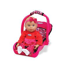 Braya...Walmart has a set that is a baby doll stroller, carrier & pack & play I believe