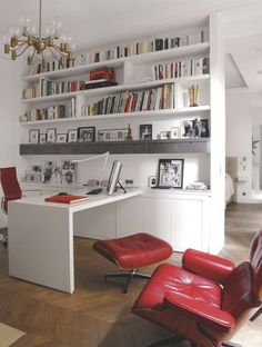 bureau biblioth que ordinateur dans salle de jeux salle de jeux pinterest livres. Black Bedroom Furniture Sets. Home Design Ideas