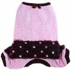 Flannel Pet Pajamas - Yorkie Pajamas, Small Dog PJ, Dog's Pajamas, Puppy Pajamas