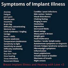 Symptoms of Breast implant illness