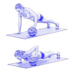medicine ball pushup