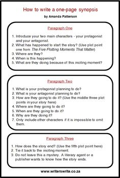 I've never met a writer who enjoyed writing a synopsis. I created this simple formula to help you write a one-page synopsis. Please refer to my post on The Five Plotting Moments That Matter that...