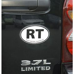 RT Respiratory Therapist Oval Car magnt