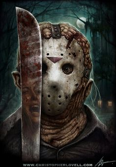 Alternative Art : Jason Goes To Hell Christopher Lovell Jason Voorhees, Horror Icons, Horror Films, Horror Stories, Horror Villains, Jason Friday, Friday The 13th, Chucky, Christopher Lovell
