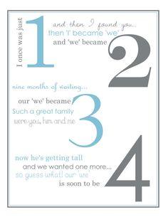 Pregnancy Poem Announcement by LifesLittleAdventure on Etsy, $6.00