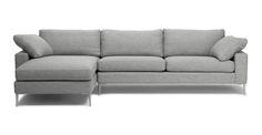Nova Winter Gray Left Sectional Sofa