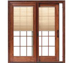 Designer Series Sliding Patio Door   Pella.com This would look soooooo sharp with the new kitchen/dining room!!
