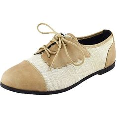 Chase Chloe Women's Two Tone Lace Up Oxford Flat ($19) ❤ liked on Polyvore featuring shoes, oxfords, wide fit flat shoes, wide fit shoes, 2 tone oxford shoes, wide shoes and two tone shoes
