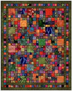 Batik Squares by Susan Claire