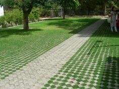 Image result for driveway with grass inbetween