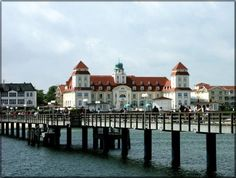 Binz, Germany; a resort town on the Island of Ruegen in the Baltic Sea
