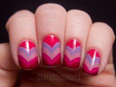 Valentine's Day Nail Art: Heart Fishtail #Nails http://www.ivillage.com/diy-nail-art-designs-valentines-day/5-b-520737#520740