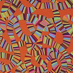 Kaffe Fassett Spring 2015-Roller Coaster-Orange Fabric Fat Quarter