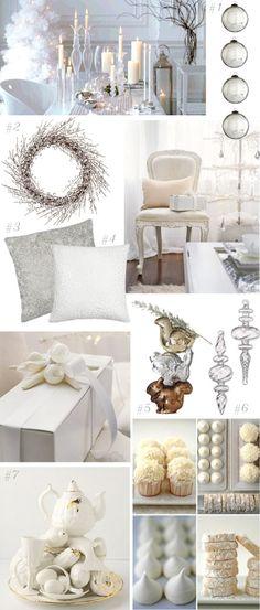white christmas home decor